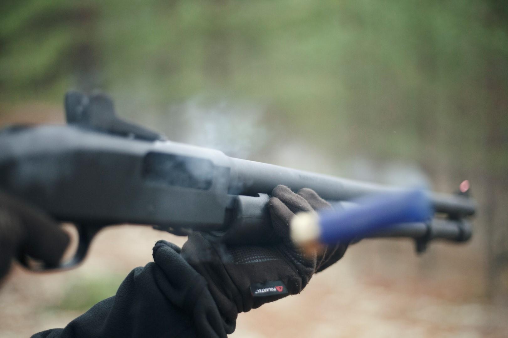 halvautomat hagelgevär antal skott