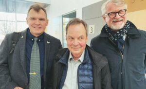 Lennart Johanesson, Karl Hedin och Sven Severin. Foto: Privat